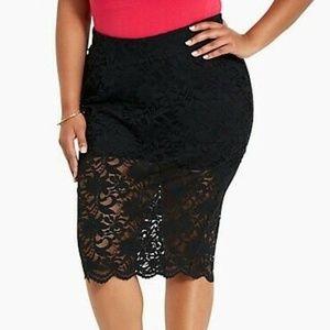 Torrid Womens Pencil Skirt Size 10 Lace